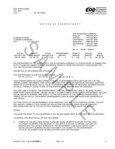 Edd Appeal Letter by Best Photos Of Overpayment Notification Letter Sle Payroll Overpayment Letter