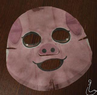 Masker The Faceshop Character Mask Sheet Pig Honey The Shop the swanple review the shop character mask pig