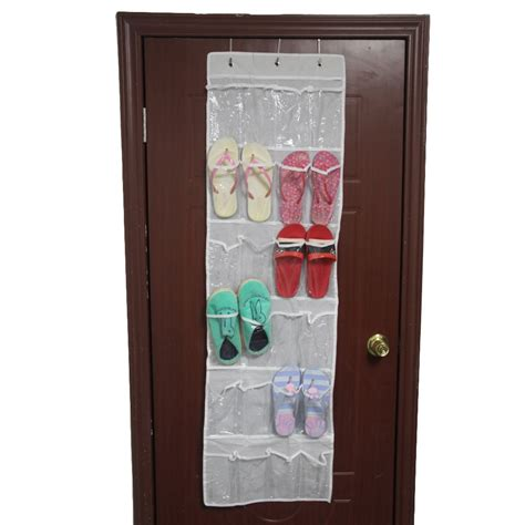 24 Pocket Over The Door Hanging Holder Shoe Organizer Rack Closet Door Rack
