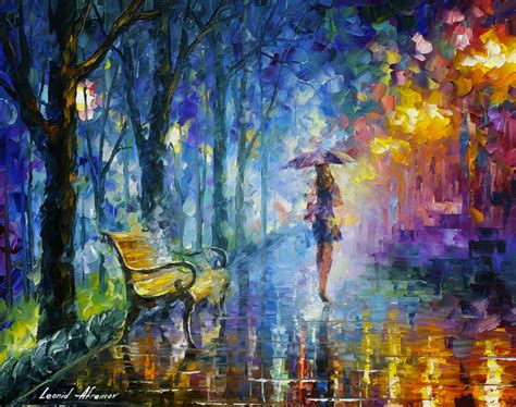 painting new 2015 umbrella original painting on canvas by leonid
