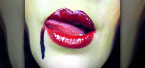 how to create bloody quot true blood quot vampire lips 171 makeup