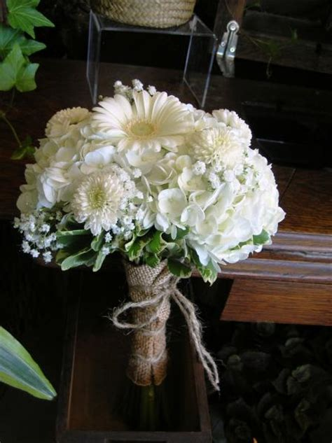 Wedding Bouquets Using Gerberas by Image Vintage Bridal Bouquet Of White Hydrangea Button