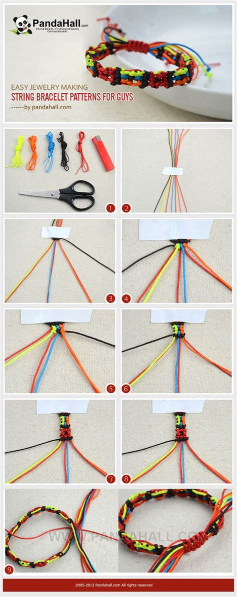 How To Make String Patterns - de 25 bedste id 233 er inden for string bracelets p 229