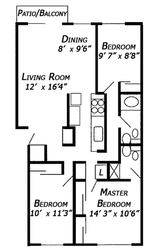 3 bedroom floor plan with dimensions hancock east 3 bedroom floor plan