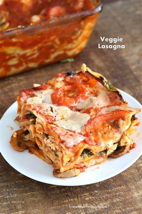 best easy vegetarian lasagna recipe vegan veggie lasagna for 2 vegan richa