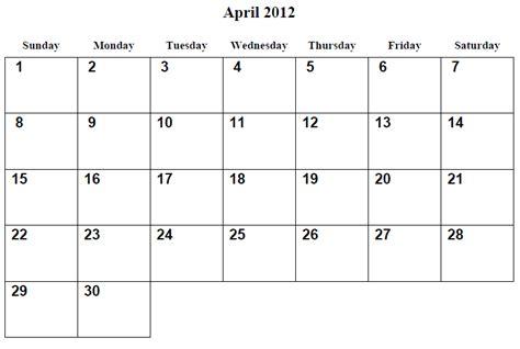 printable monthly calendar april 2015 6 best images of free printable calendar april 2012