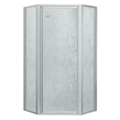 Sterling Neo Angle Shower Door Shop Sterling Matte Chrome Neo Angle Shower Door At Lowes