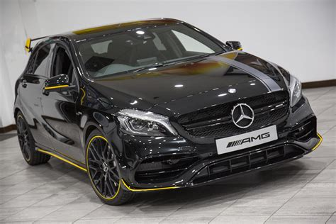 mercedes a class amg black used 2017 mercedes a class amg a 45 4matic yellow