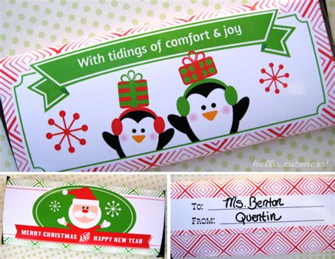 7 best images of holiday candy wrappers printable free