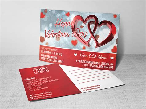 Valentines Day Card Template Psd by S Day Postcard Psd Template Landisher