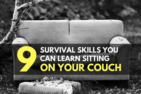 you can on the couch 9 survival skills you can learn sitting on your couch