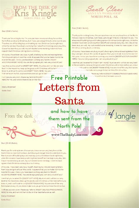 Official Letters From Santa Best 25 Free Letters From Santa Ideas On
