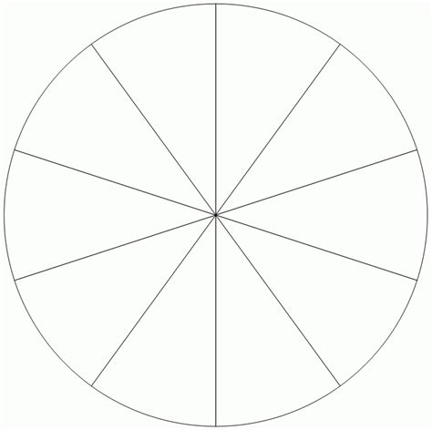 Blank Pie Chart 8 Sections Printables And Menu Pie Chart Template