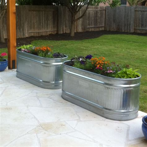 water trough planters outdoorsy pinterest