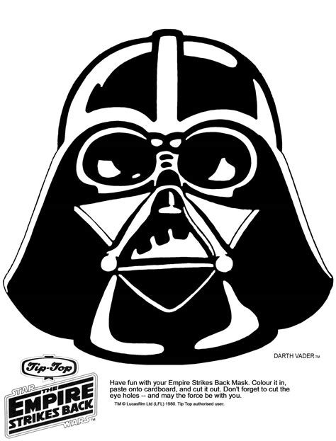 printable r2d2 mask mask printable click the picture for the darth vader