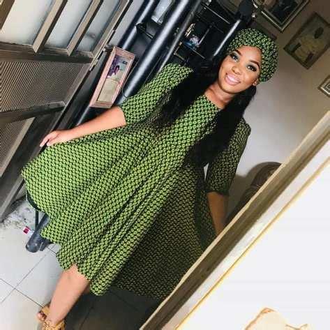 fabulous green shweshwe dresses  naloaded