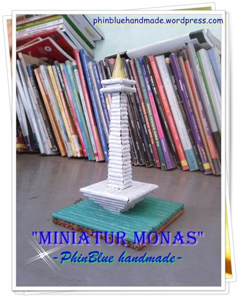 Plastik Sovenir Lucu Untuk Makanan Cookies Kertas Kado Box Tag miniatur monas dari kertas koran craft souvenir decor