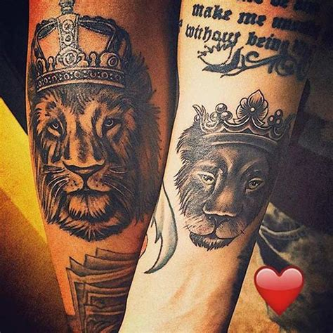 tattoo my queen my king 40 king and queen tattoos for lovers that kick ass