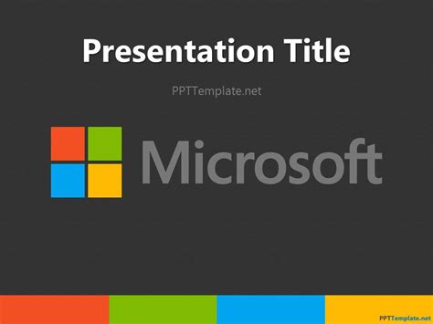 Microsoft Template Powerpoint by Free Microsoft Ppt Template