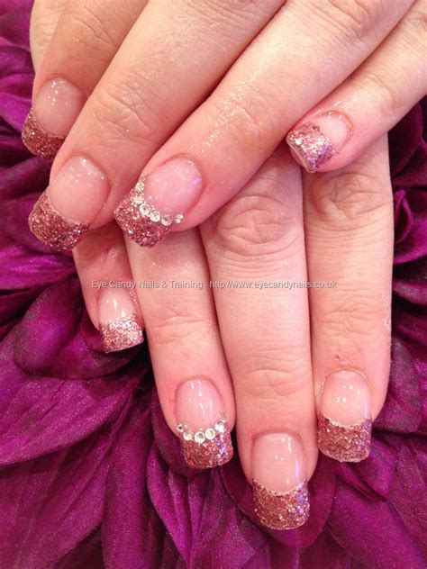 pink glitter acrylic nail designs eye candy nails training acrylic nails with pink