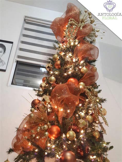 arbol d enavidad con colores naranjas decoraci 243 n de pino naranja ocres antolog 237 afloral navidad 2017 navidad