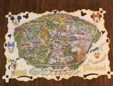 disneyland decorative border puzzle map i did a 1000 piece puzzle of the disneyland map but i can