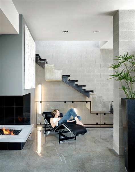 concrete block building interior design ideas modern concrete stairs 22 ideas for interior and