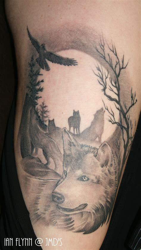 tattoo eagle and wolf wolf tattoo by ian flynn my tattoo portfolio pinterest