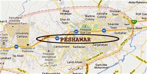 peshawar on world map bomb kills two police officers in peshawar