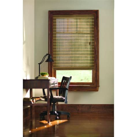 home decorator blinds home decorators collection natural moss multi weave bamboo