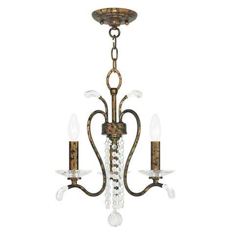Bronze Mini Chandelier Livex Lighting Serafina 3 Light Venetian Golden Bronze Mini Chandelier 51003 71 The Home Depot