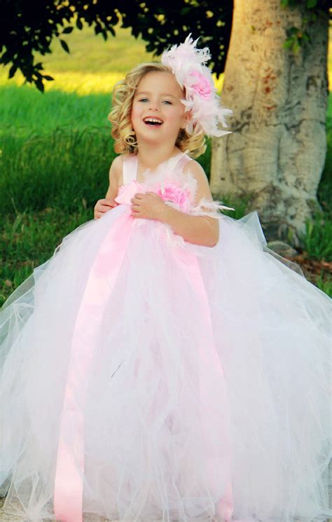 Dress Tutu Girly pink and white tutu dresses pink and white feather