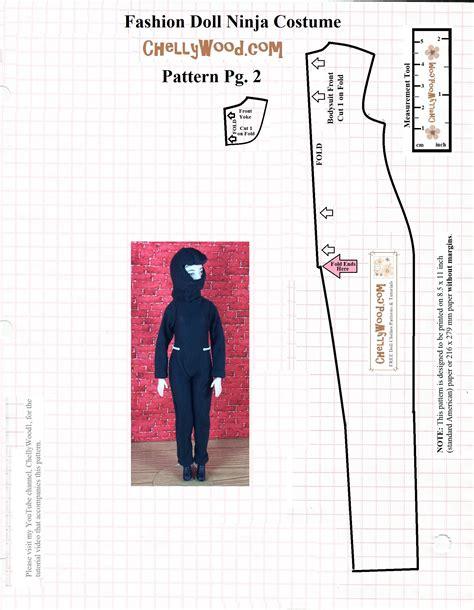 pattern for a ninja costume sew a ninja s mask for fashiondolls w free pattern at