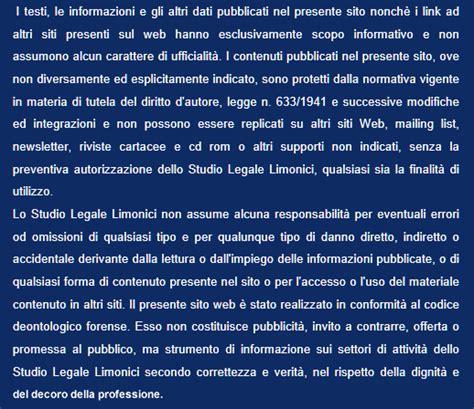 testo dici studio legale limonici avvocato limonici torino