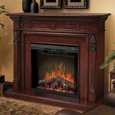 Walnut Electric Fireplace by Dimplex Torchiere Burnished Walnut Electric Fireplace