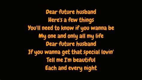 lyrics for husband meghan trainor dear future husband lyrics hd