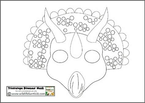 dinosaur mask template plays dinosaur mask and dinosaurs on