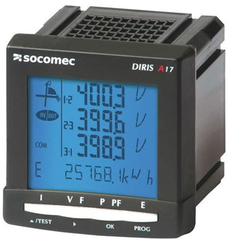 Multi Function Meter socomec diris a17 three phase multi function meter with pulse output 4825 0101