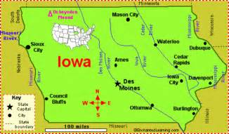 iowa on a map of the united states obama wins iowa us play