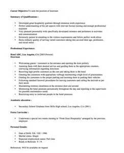 new doorman resume sample 2016 resumes design