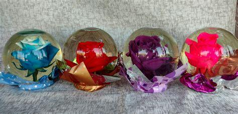 imagenes rosas de cristal rosa natural en bola de cristal en71 floreria y regalos