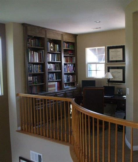 Kitchen Cabinet Crown Molding Home Office In Loft At Top Of Stairs Woodwork Creations
