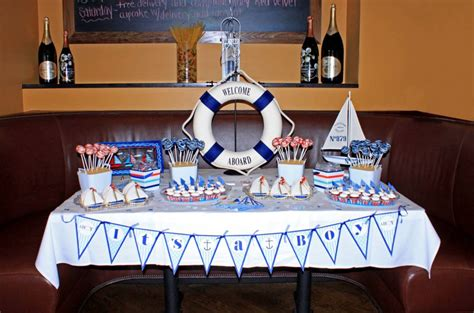 Nautical Baby Shower Decorations by Nautical Baby Boy Shower Project Nursery