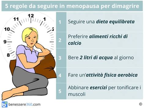 alimentazione x dimagrire dimagrire in menopausa