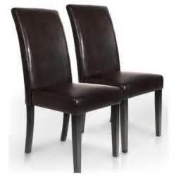 lot 2 chaises marron salle a achat vente chaise