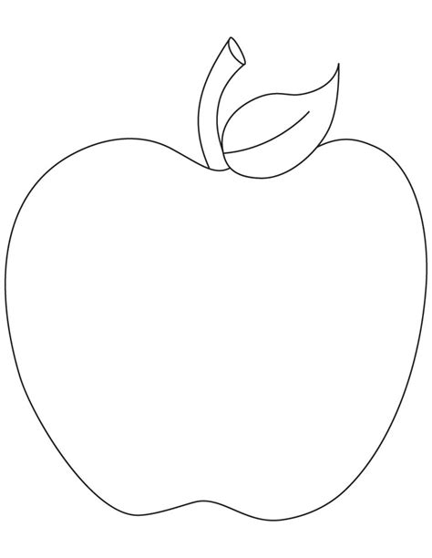 free printable coloring page of an apple free 14 apple fruit coloring sheet