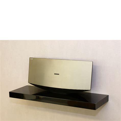 only black large floating shelf for computer desk ideas