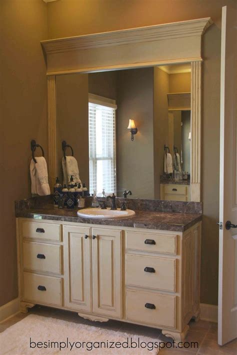 bathroom mirror frame ideas nice way to frame a bathroom mirror bathroom ideas