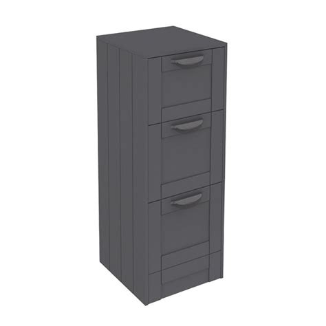 drawer storage units nottingham grey 3 drawer storage unit