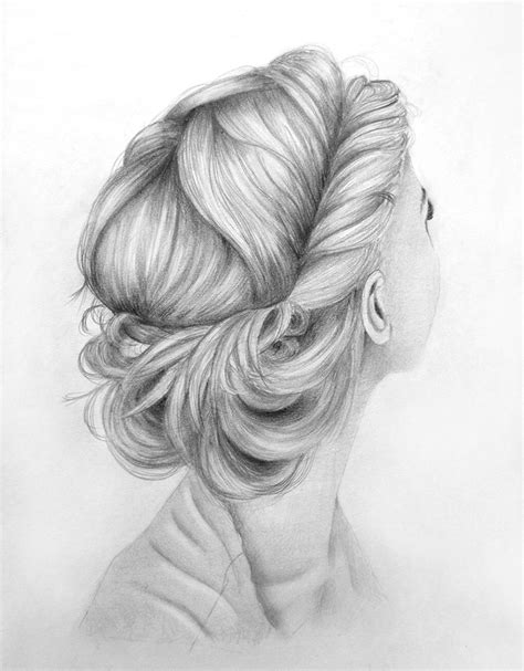 sketches of hair lovely hair up do by kinannti on deviantart